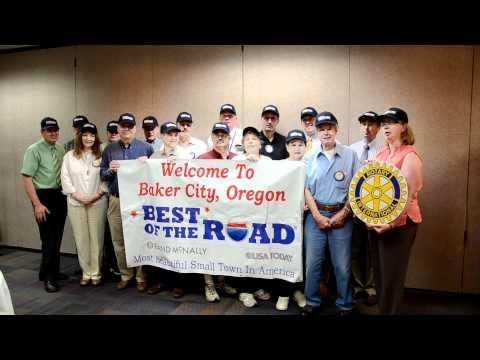 Baker City Rotary Welcomes BestoftheRoad to Baker City Oregon