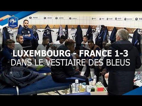 Dans le vestiaire des Bleus après Luxembourg-France !