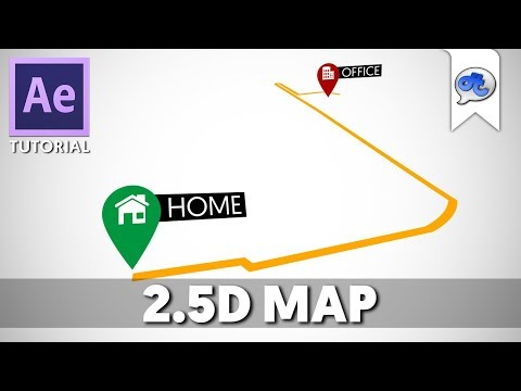 Adobe After Effects | TUTORIAL #62 : 2.5D MAP (Bahasa Indonesia)