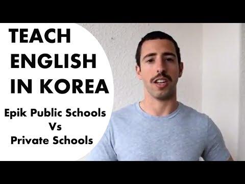 Private Vs  Public Schools in Korea & The Death of EPIK
