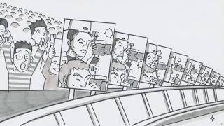 動画アップ後、2日間で100万再生を突破した話題のパラパラ漫画、全編初公開