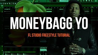 Making A Moneybagg Yo Type Beat - FL Studio Freestyle Tutorial