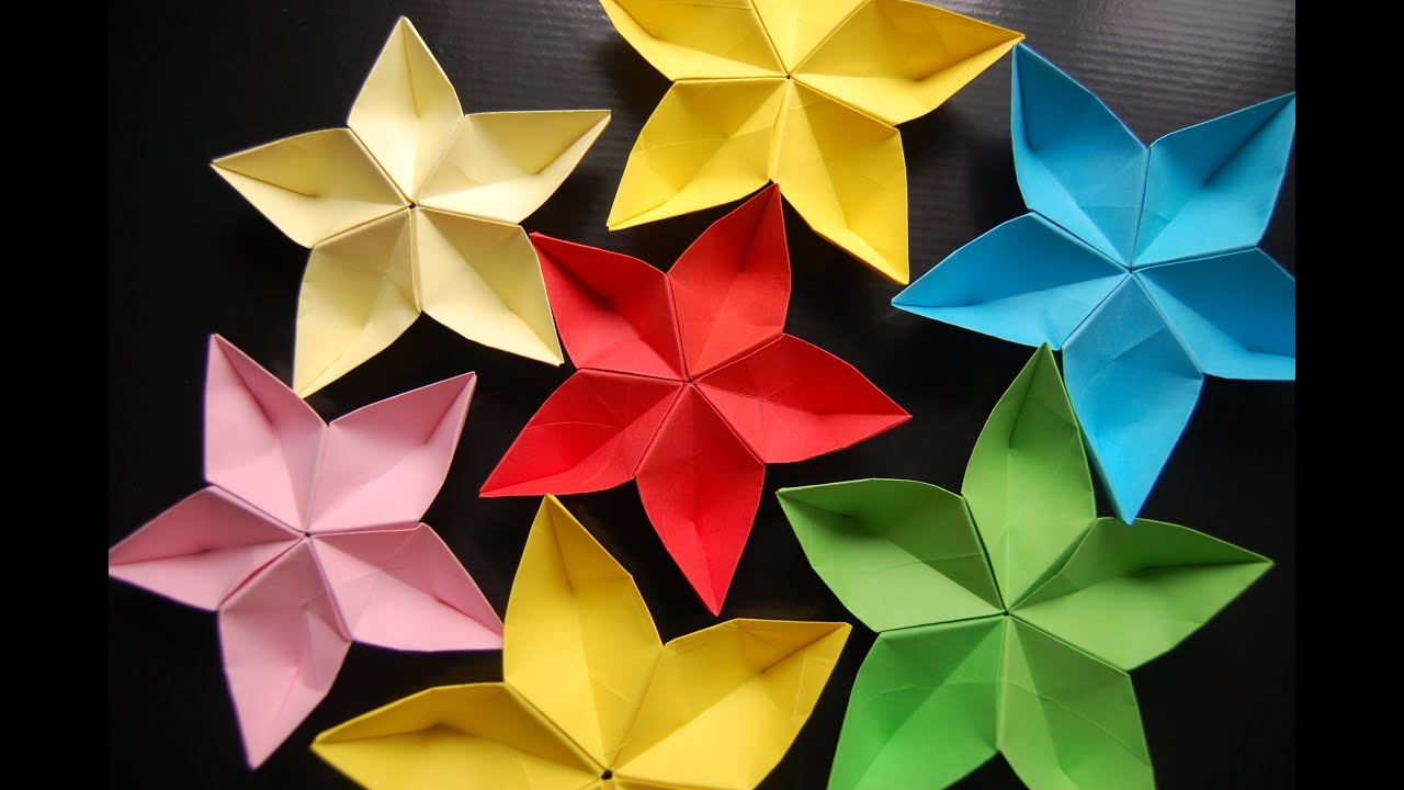 origami flower sakura - YouTube