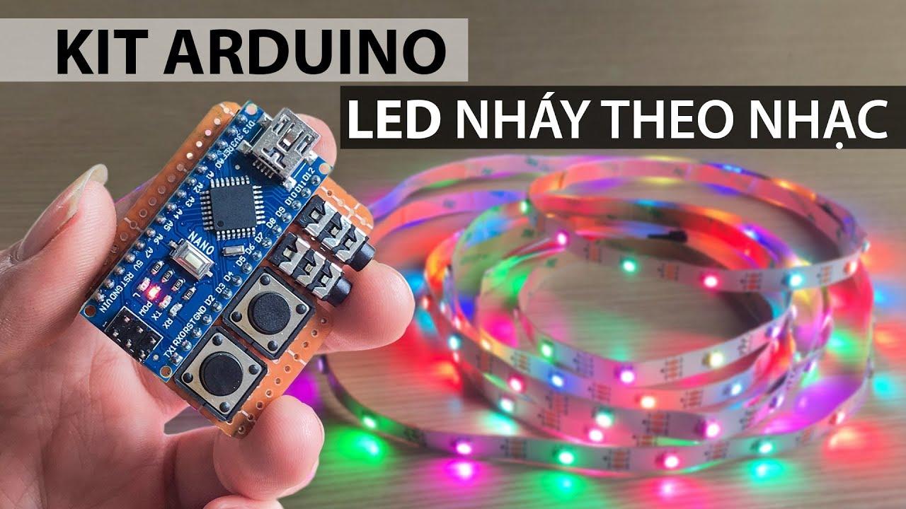 Chế mạch LED nháy theo nhạc bằng KIT ARDUINO 328 nano – Chơi tết