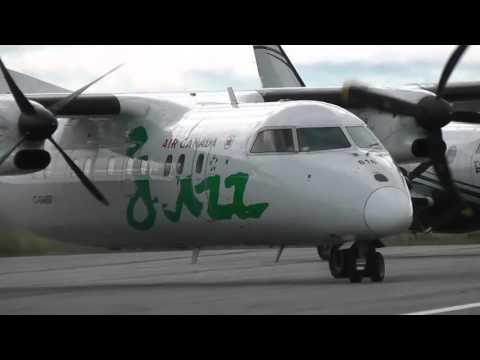 Air Canada Jazz | De Havilland Dash 8-100 engines start | Val-d'Or (CYVO)