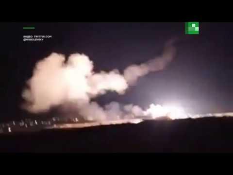 Видео отражения ракетной атаки сирийскими ПВО