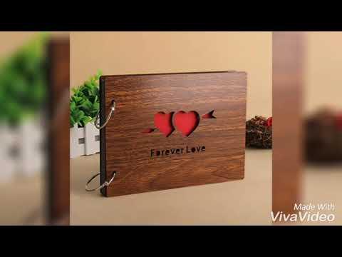 #Wooden Photo Albun #Sehaz Artworks 'Forever Love' Wood Pasted Photo Album