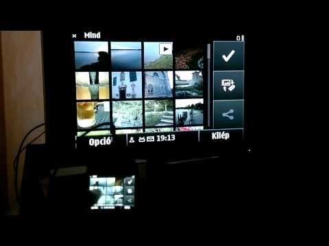 Nokia E6 TV-Out teszt