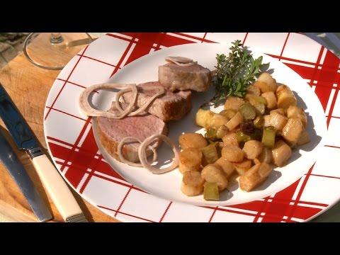 Recette filet mignon de porc au cidre et la cr me m t o la carte youtube - Recette meteo a la carte ...