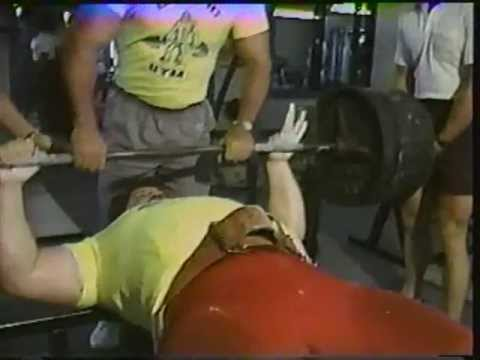 TUGBOAT 600LB BENCH PRESS 80s Southwest Texas Wrestling SCW
