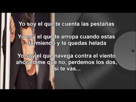 A QUE NO ME DEJAS (letra) - Alejandro Sanz