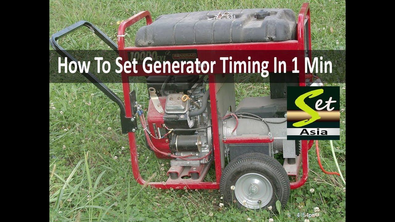 small generator timing setting youtube