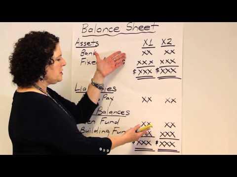 Church Accounting - Balance Sheet Changes