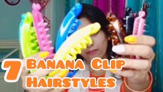7 Easiest Banana Clip Hairstyles (Part-1) | Easy To Go Hairstyles