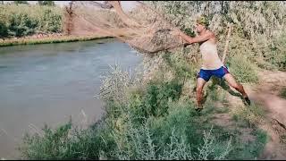 Ловля кастинговой сетью на реке Мохигира дар масковски моринка сома