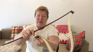 Ask Nina - Lesson 007 - Using Your Rosin And Cleaning Your Violin Bow
