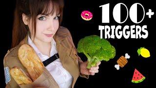 ASMR 🥦 100+ TRIGGERS FOOD in 11 MINUTES 🍗🍏 АСМР 100+ ТРИГГЕРОВ ЕДЫ за 11 МИНУТ 🥩🧄 [Eating/Mukbang]