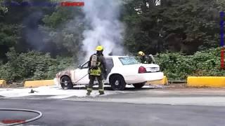 Car caught on fire in Surrey. Se enciende un carro en Surrey