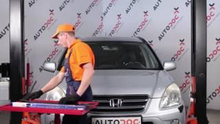 Montering Vindusviskere bak og foran HONDA CR-V II (RD_): gratis video