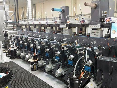 Gallus EM 280 10 Unit Used Flexo Web Printing Press