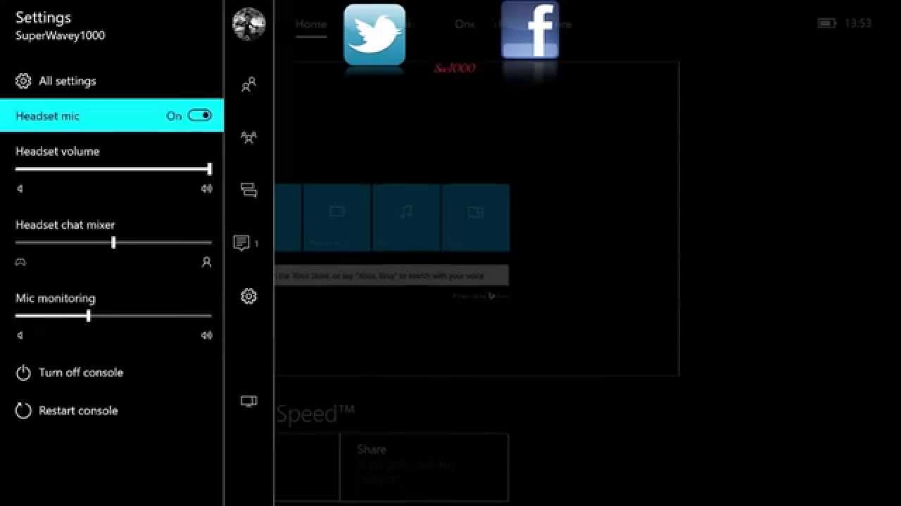 Windows 10 Xbox App Preview XBOX ONE Headset Settings