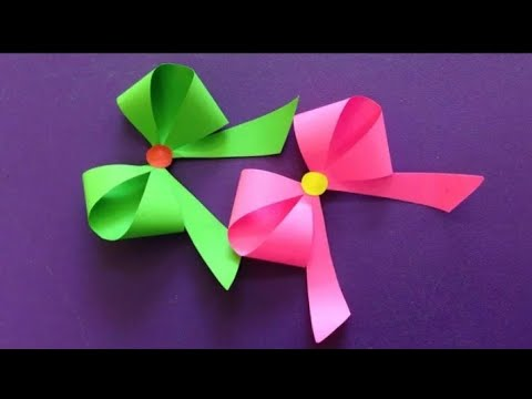 How to make a paper Bow/Ribbon l easy origami Bow/ Ribbons For beginners Making l Creative arts