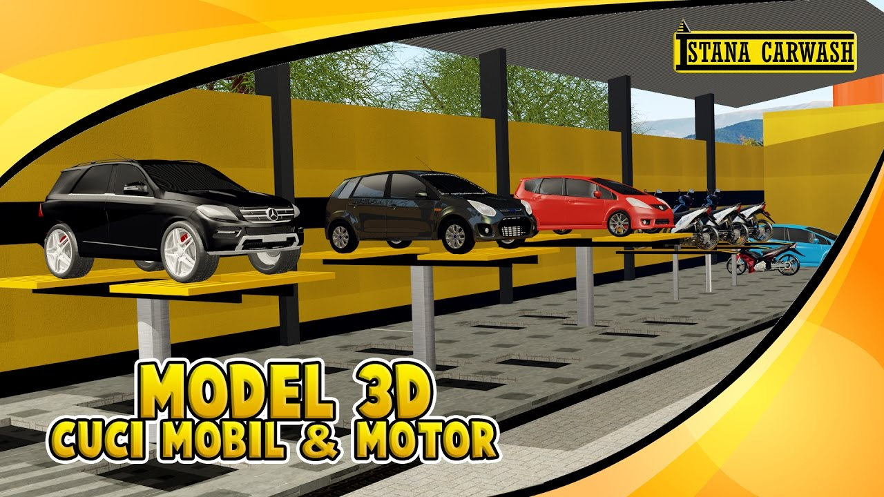Model 3d Usaha Cuci Mobil & Motor