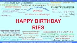 Ries   Languages Idiomas - Happy Birthday