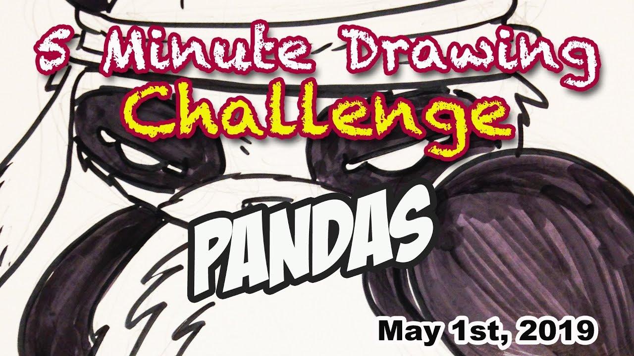 5 Minute Drawing Challenge Pandas