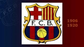 Historia de los escudos del Barça en fotos en poco mas de 1 minuto