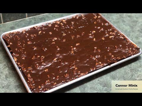 How to Make the Best Homemade Texas Sheet Cake! (With my Grandma)