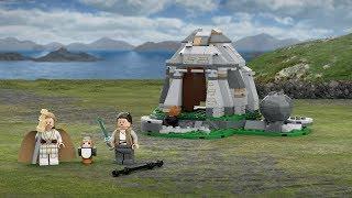Ahch-на острів навчання - Лего Зоряні війни - продукт 75200 анімації