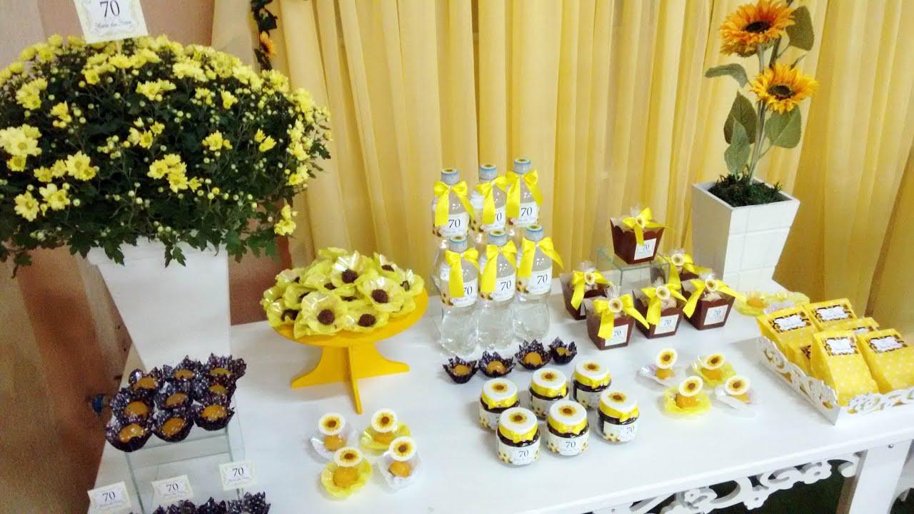 Faça Festa Tema GIRASSOL idéias 2 YouTube -> Decoração De Festa De Aniversario Girassol