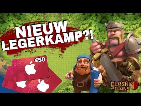 OP NAAR EEN NIEUW LEGERKAMP!! - €50 ITUNES CARDS GIVEAWAY!!! - Clash of Clans
