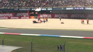 Hector Barbera & Jack Miller crash. Assen TT 27/06/2015