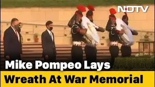 India-US 2+2 Talks: Mike Pompeo Pays Tribute At National War Memorial In Delhi