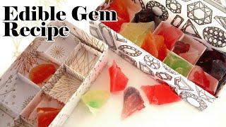 甘酸っぱい琥珀糖の作り方 Edible Gem (with agar)