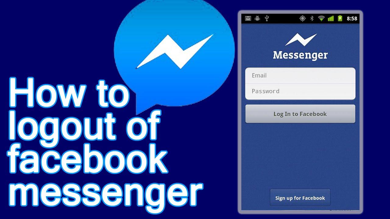 logout from facebook messenger