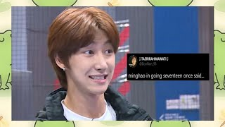 the8 (minghao) in Going Seventeen once said...