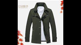 Мужской пиджак, Casual Trench, Long Jackets, Style Jacket Male Khaki