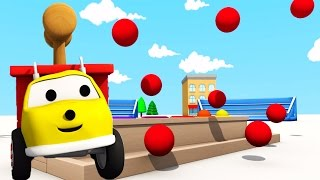 Hammering color balls: learn colors with Ethan the Dump Truck | Educational cartoon for children