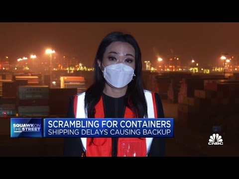 Shipping delays are causing a scramble for containers