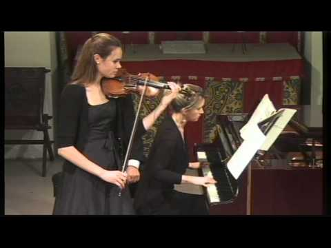 Mari Poll (violin) & Jennifer Hughes (piano) play Respighi's violin sonata in B minor 2nd Movt.
