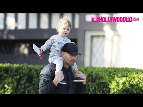 Jason Statham Takes His Son Jack Out For An Afternoon Stroll Without His Mother Rosie Huntington