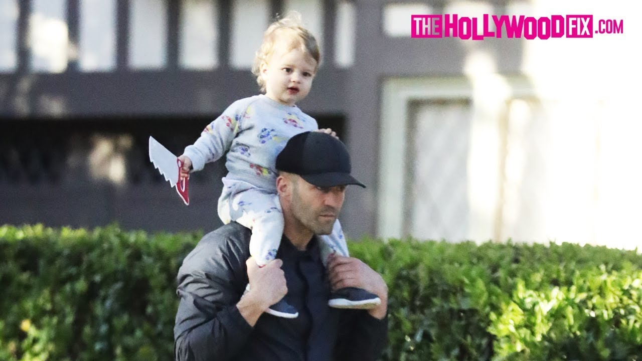 Jason Statham Takes His Son Jack Out For An Afternoon ...