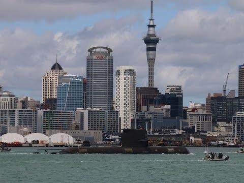 New Zealand Navy turns 75 - Australian Submarine arrives. 2016.
