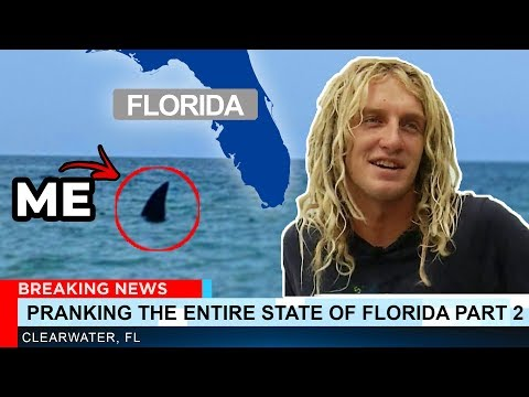 PRANKING THE ENTIRE STATE OF FLORIDA PART 2!! (Megalodon Shark Prank )| JOOGSQUAD PPJT