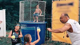Girls Dunk Boys in the Tank but Fail | Dunk Tank Game Challenge Who is Better Boys or Girls