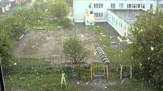 Снег 2 июня 2013 г.Кемерово