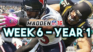 Madden 16 Jaguars Connected Franchise Year 1 - Week 6 vs Texans (Ep.7)
